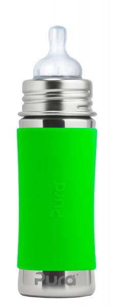 Purakiki Babyflasche 325 ml mit Sauger grün
