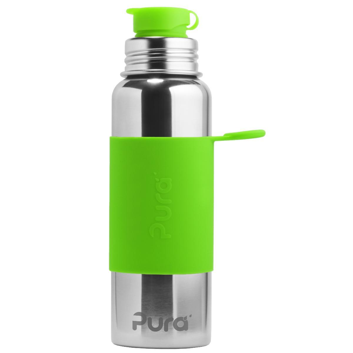 Trinkflasche 0,8 L Früchteeinsatz Flasche Sagaform Sportflasche 800ml grün E4