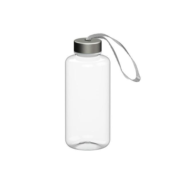 Pure TRITAN Trinkflasche 1,0 Liter inkl. Edelstahldeckel mit Schlaufe