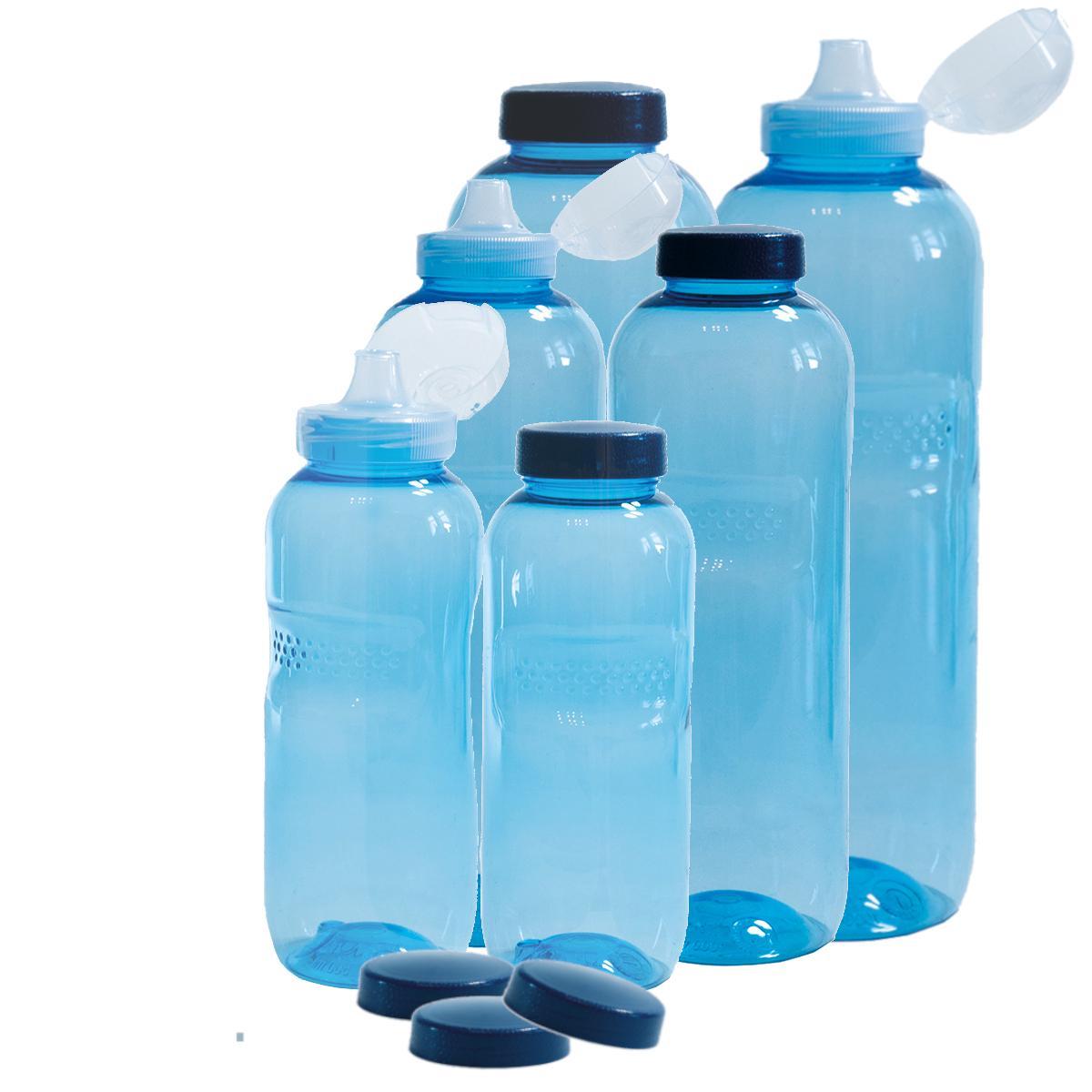 2 Stück Tritan Trinkflasche 1000ml BPAfrei Flasche Wasser Kavodrink 1,0L eckig