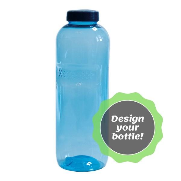 Kavodrink TRITAN Trinkflaschen 1,0 Liter (rund) mit Design Standarddeckel für Kavodrink